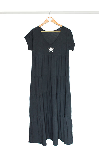 Charcoal Star Cotton Dress