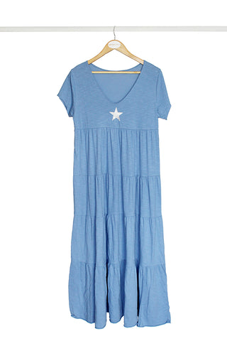 Blue Star Cotton Dress