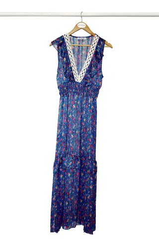 Cobalt Floral Maxi Dress