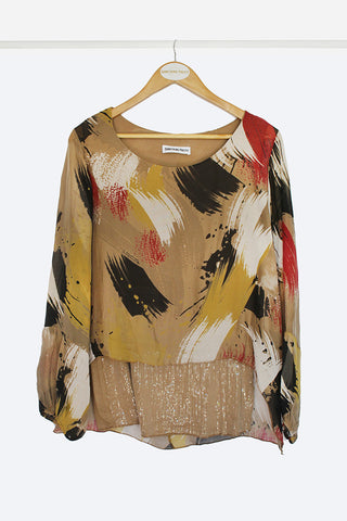 Abstract Sequin Blouse