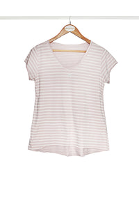Blush Star Striped Tee