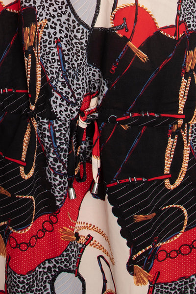 Red Chain Print Tunic