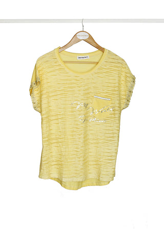 Yellow Glam Tee