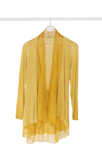 Thatch Cardigan With Silk Frill Detail