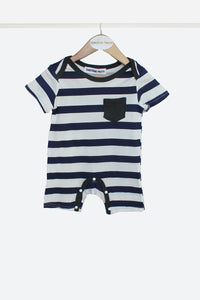 Striped Baby Grow - 2 Pack