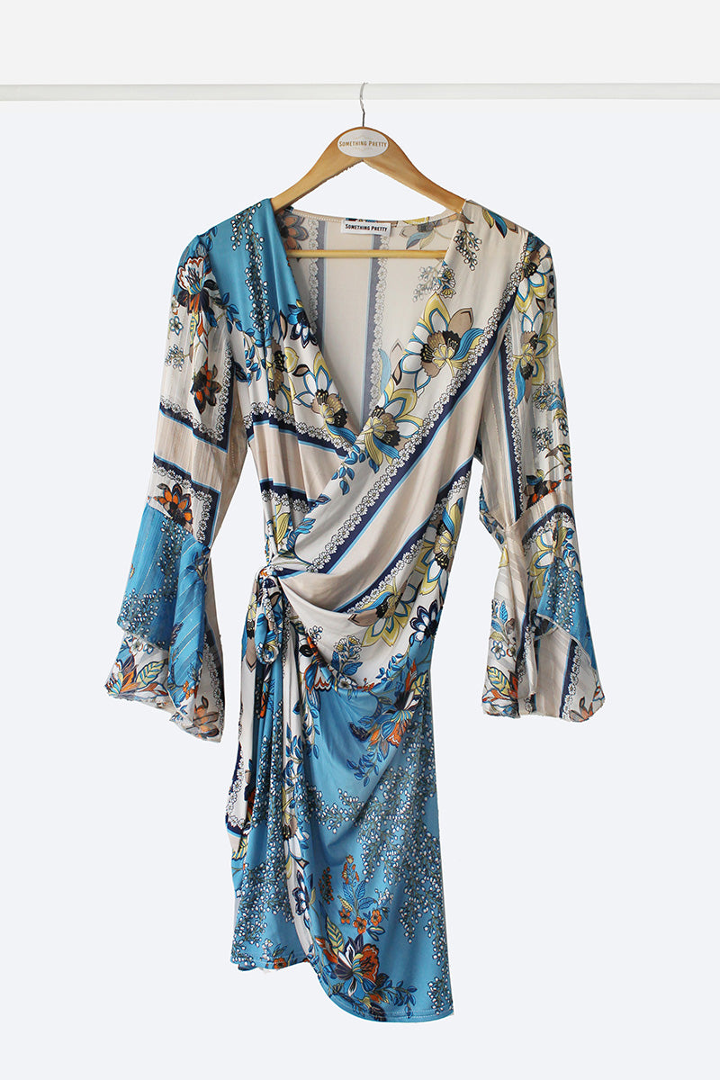 Cobalt Wrap Dress