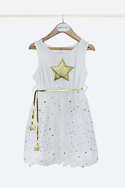 White Star Party Dress