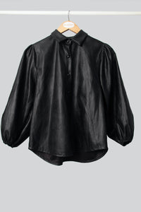Black Pleather Shirt
