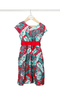 Red Tropical Dress