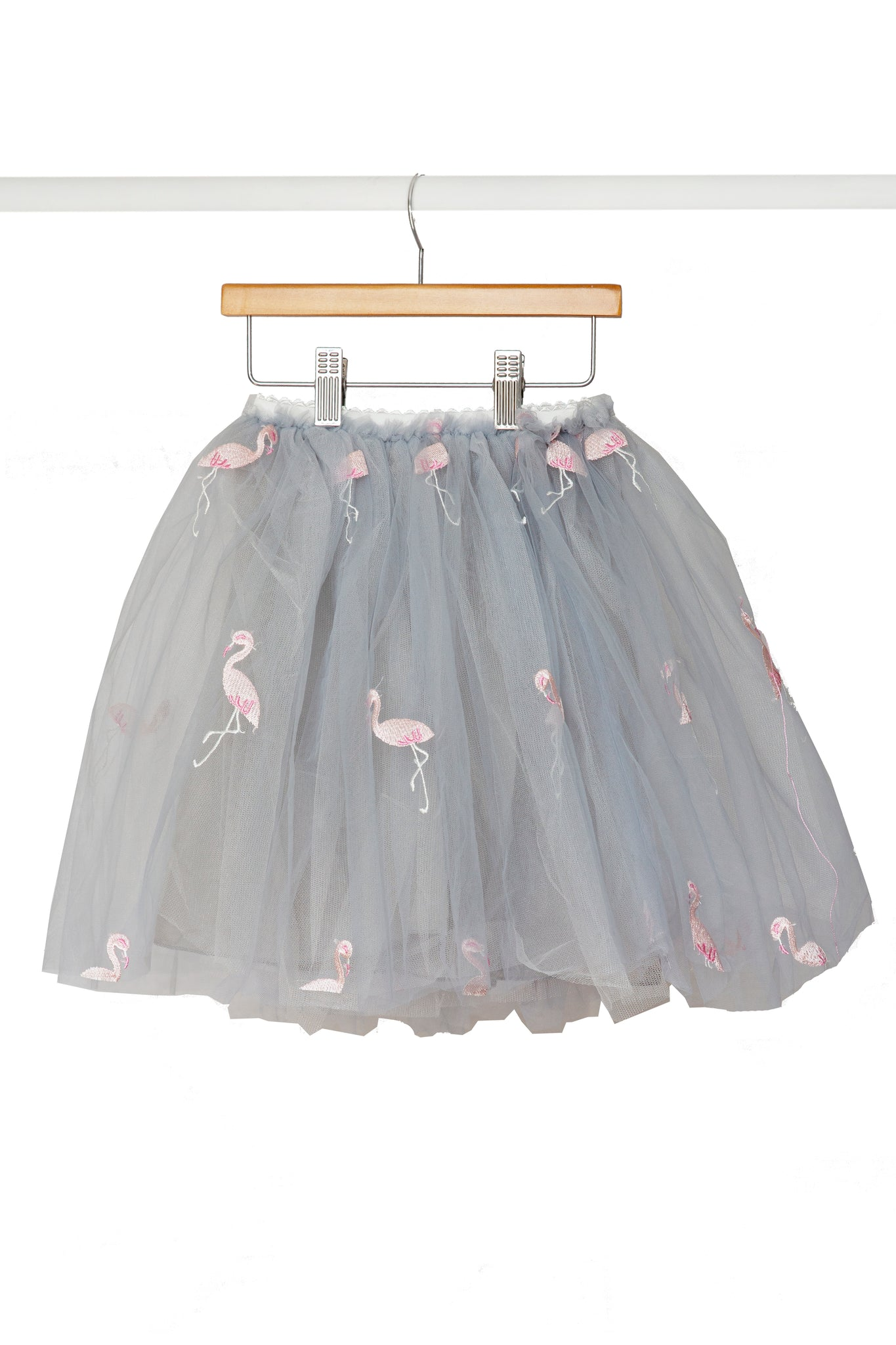 Grey Flamingo Skirt