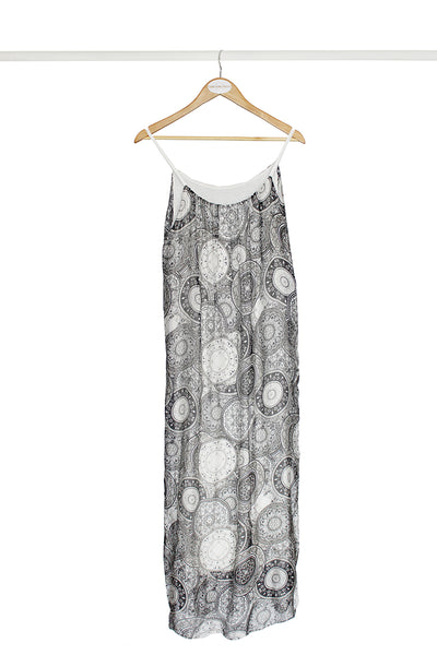 Monochrome Circle Maxi Dress