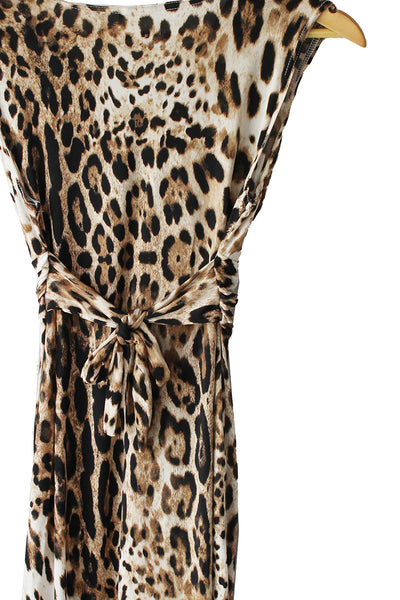 Leopard Knot Mini Dress