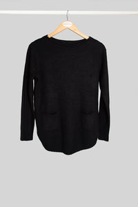 Black Pocket Jumper