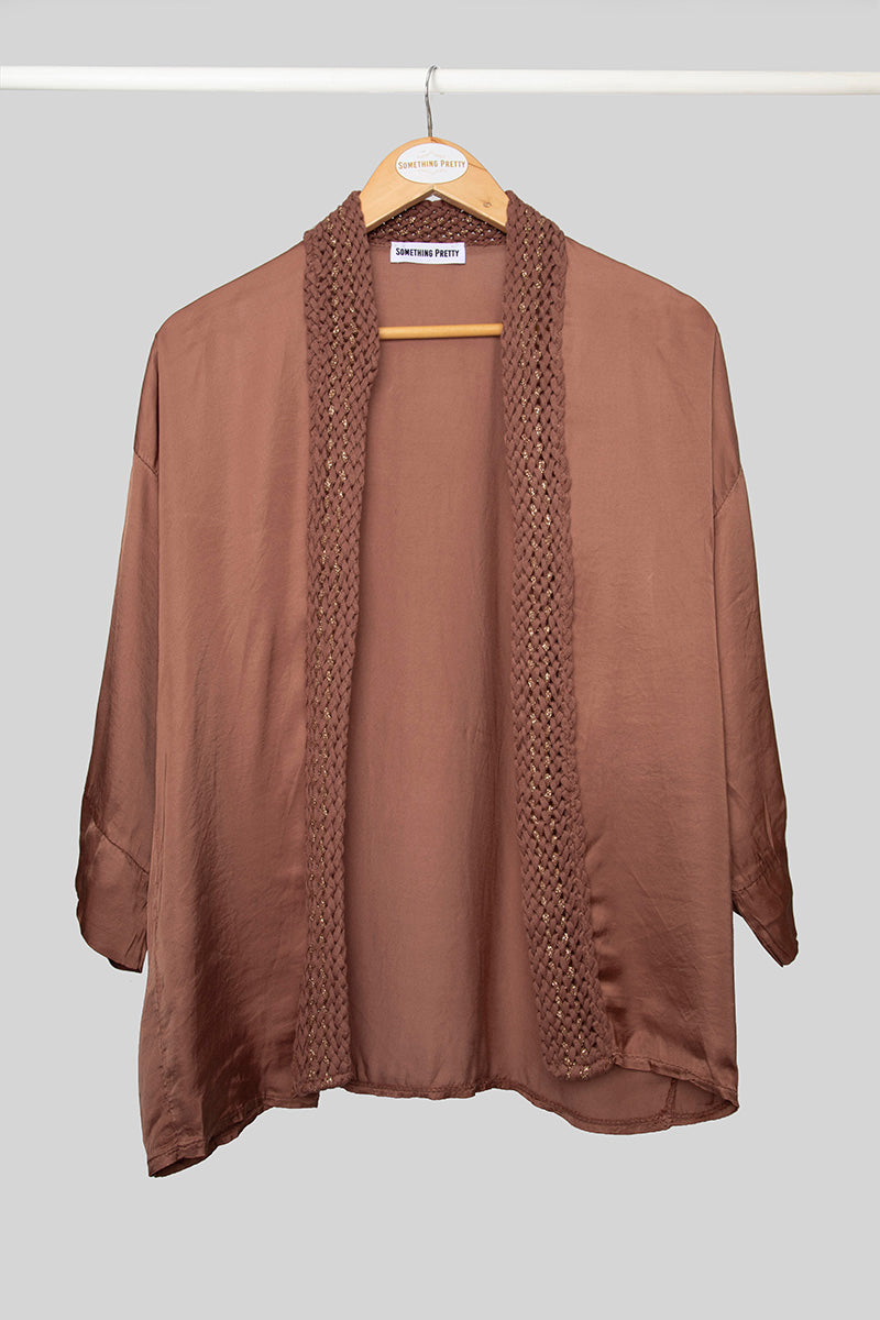 Brown Satin Jacket