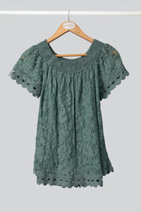 Green Baby Doll Top