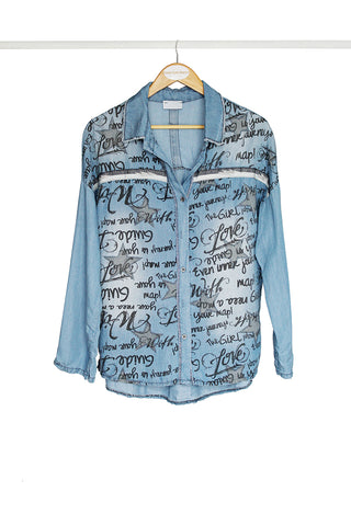 Graffiti Denim Shirt