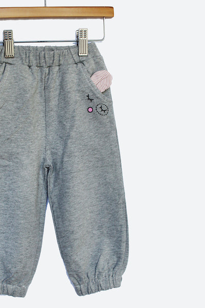 Grey Adorable Tracksuit Pants