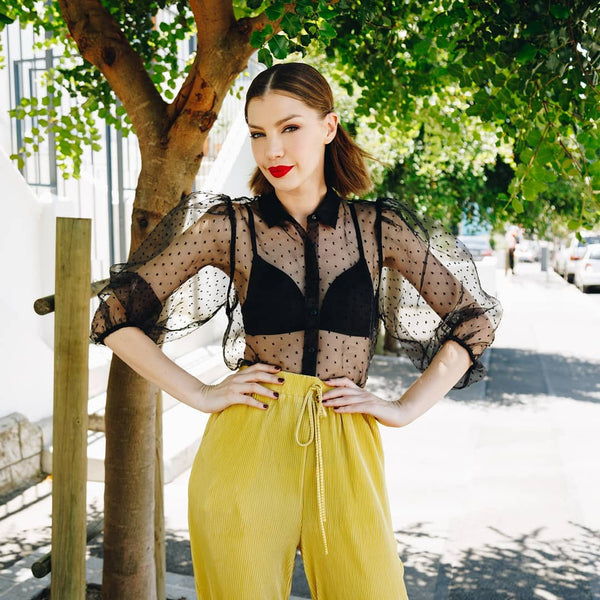 Yellow Culotte Pants