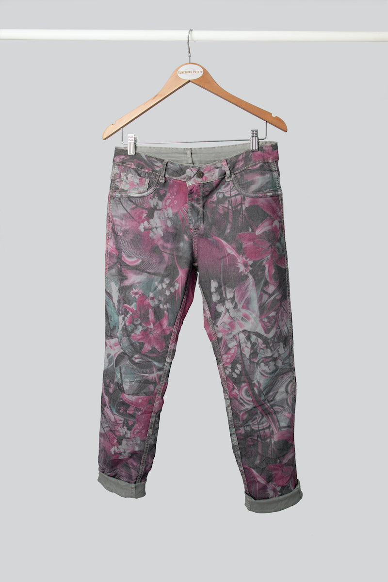 Pink Floral Reversible Jean