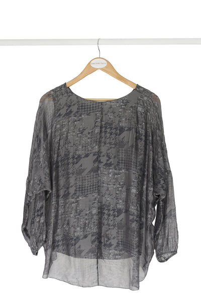 Charcoal Winter Silk Poncho