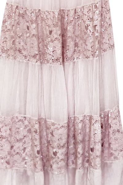 Blush Silk Lace Dress