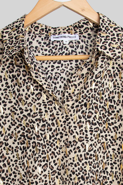 Leopard And Gold Shirt