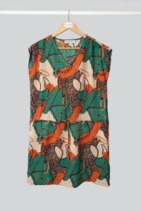 Green Chain Print Tunic