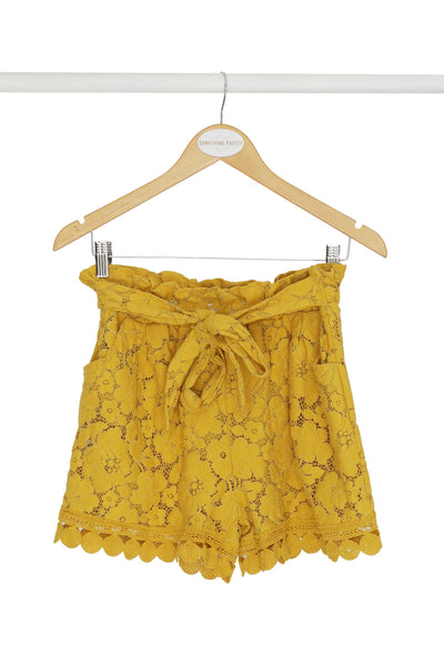 Yellow Lace Shorts