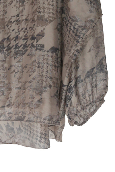 Taupe Winter Silk Poncho