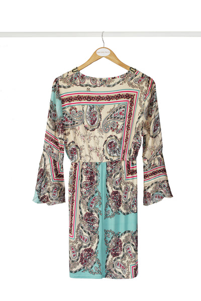 Turquoise Printed Tunic Dress