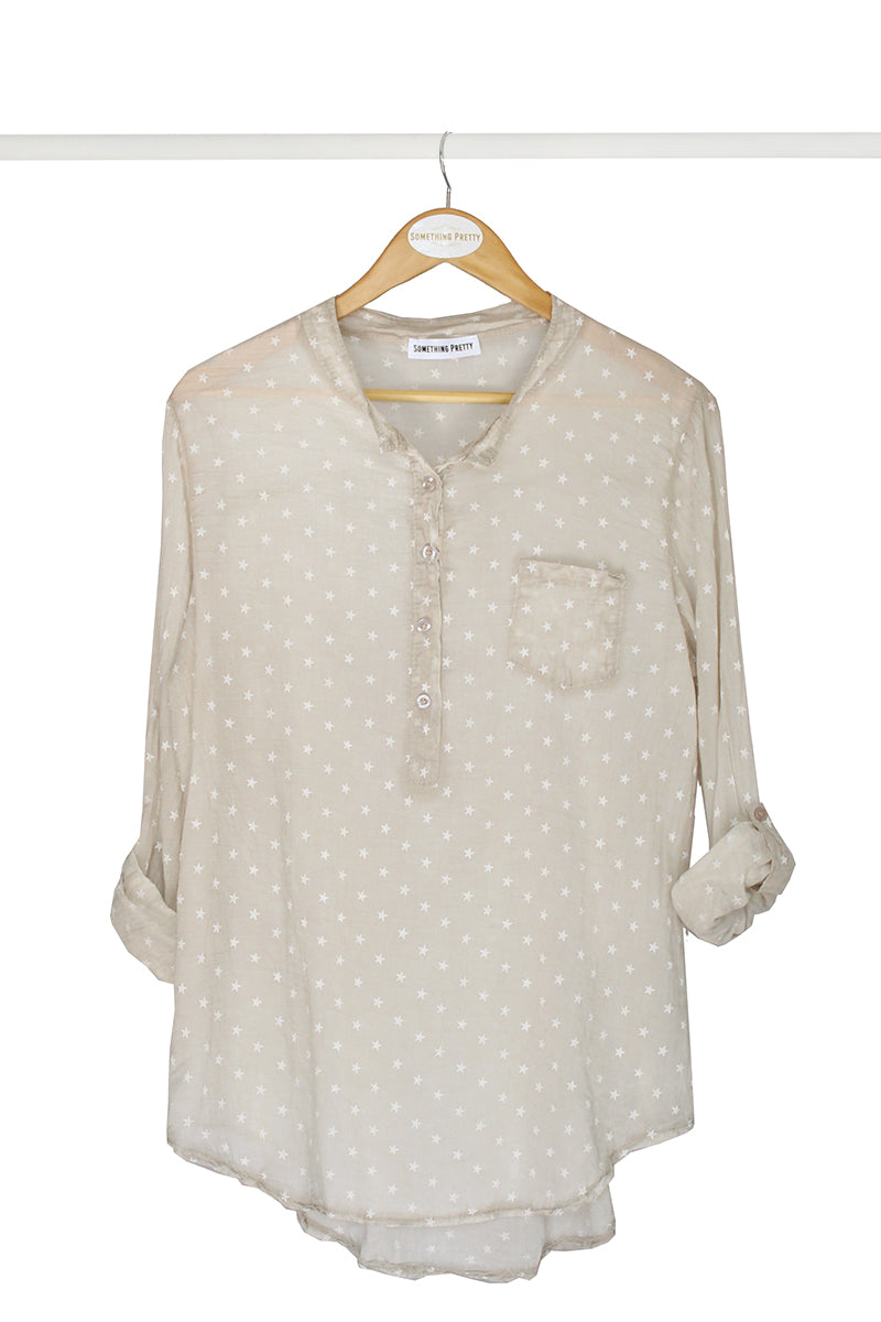 Beige Star Shirt