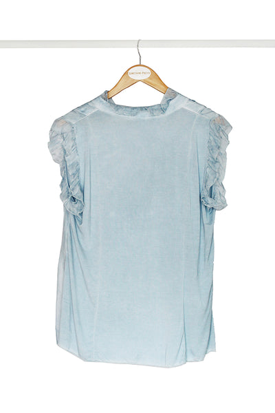 Blue Frill Top