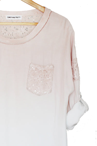 Blush Ombre Top