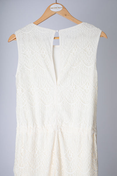 Cream Lace Jumpsuit