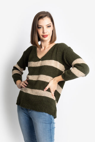 Olive Striped Jumper