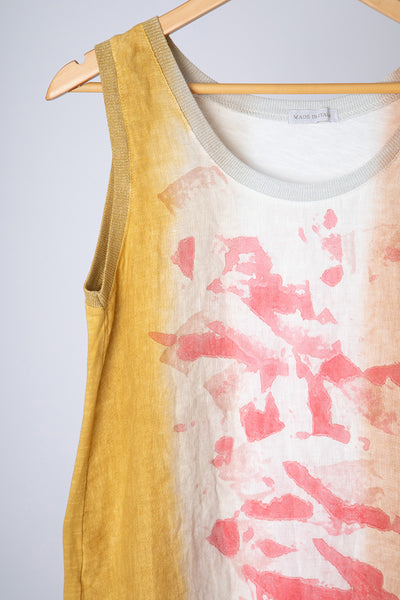Yellow Abstract Vest