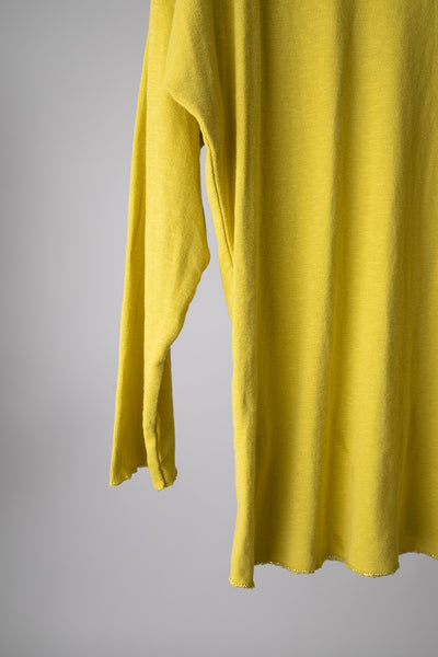Yellow Basic Knit with Stripes