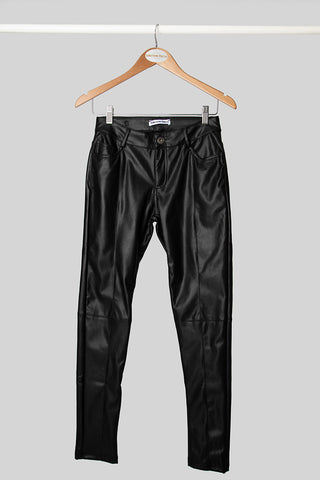 Black Faux Leather Skinny pant