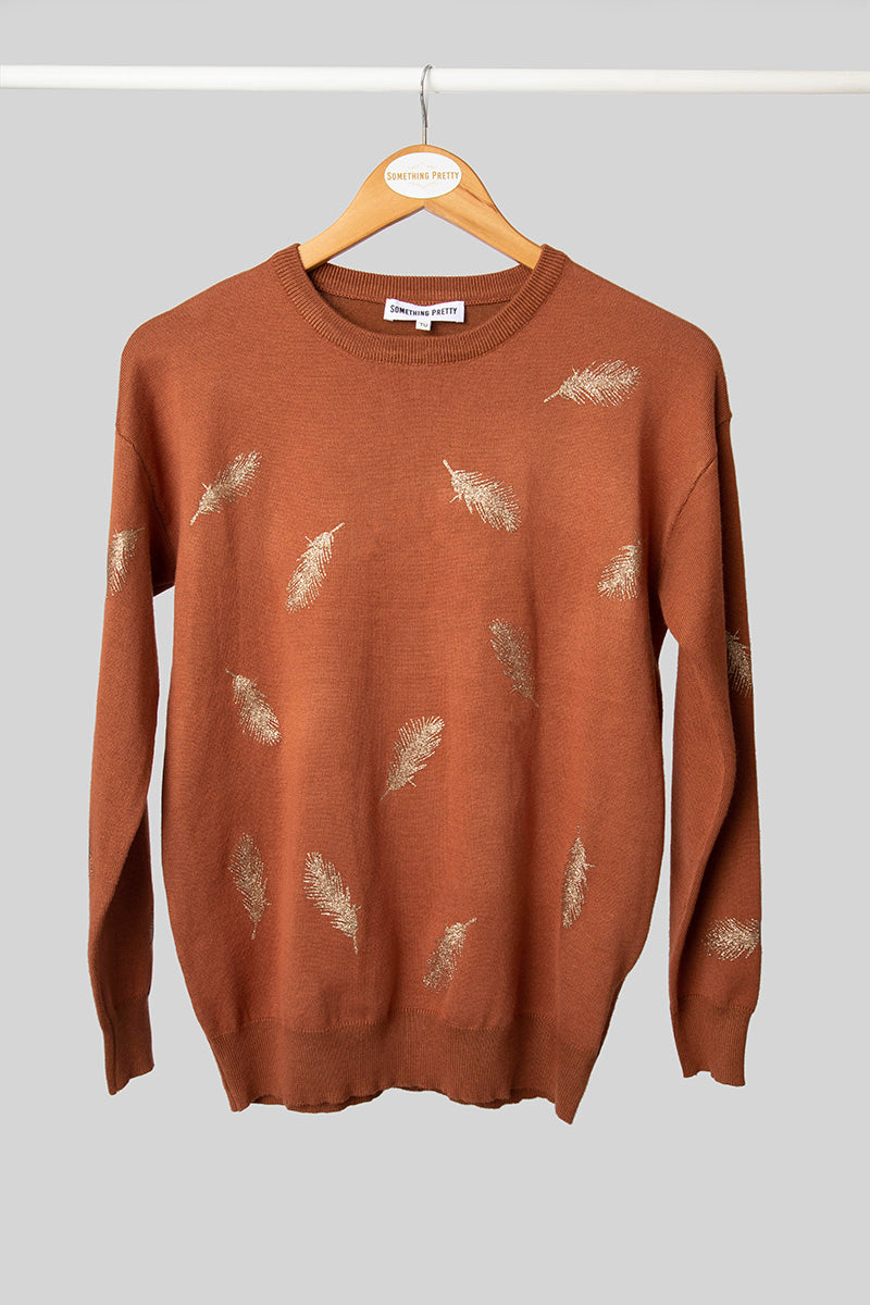 Rust Feather Jumper