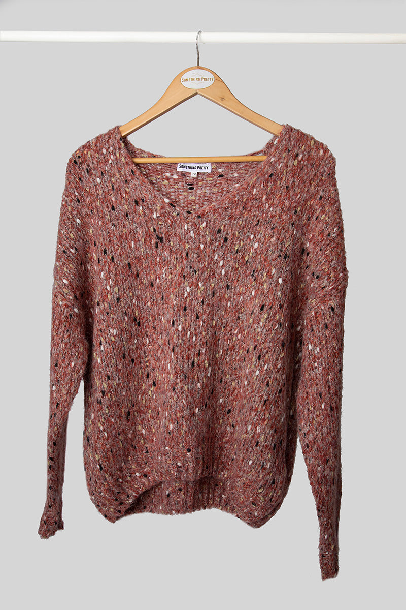 Red Marled Jumper