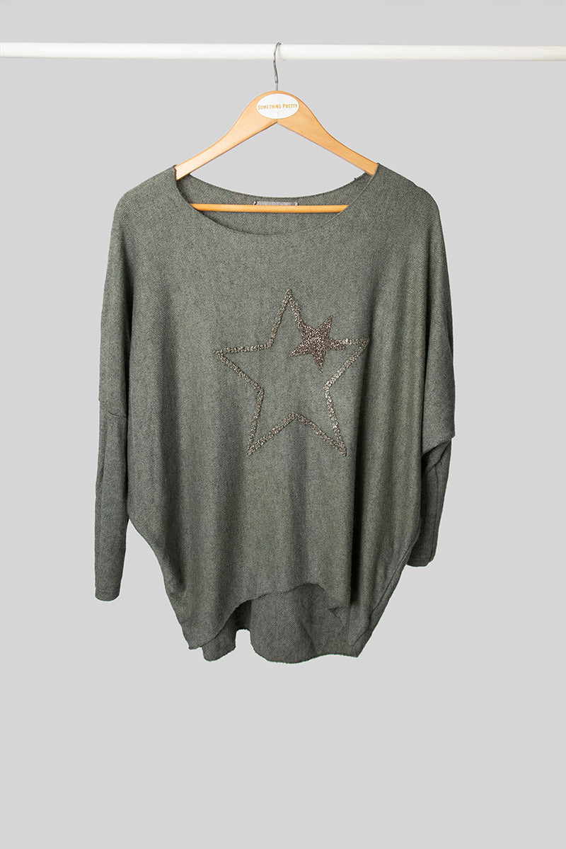 Green Star Jumper