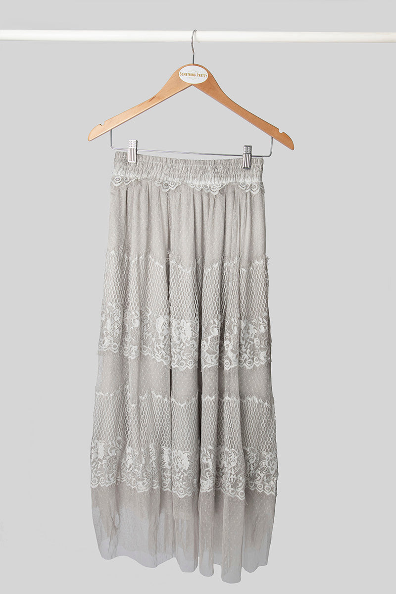 Grey Lace Skirt