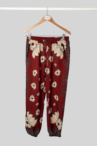 Rust Floral Pant