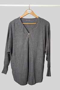 Grey Zip Jumper