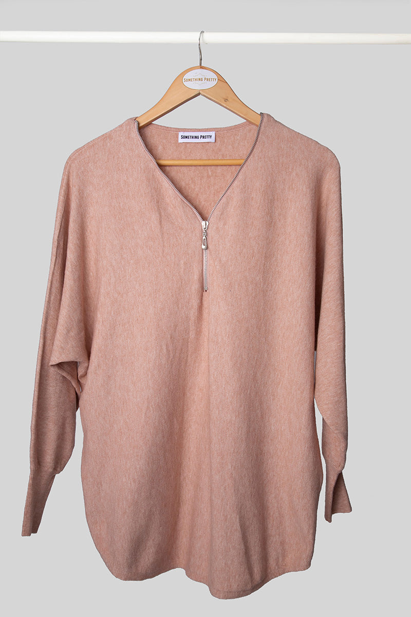 Blush Zip Jumper