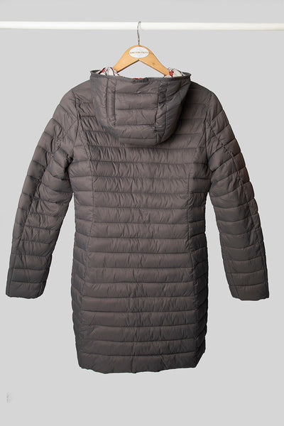 Grey Long Puffer Jacket