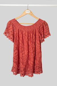 Rust Baby Doll Top