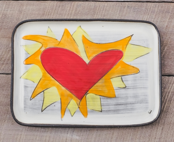 Flaming Heart Plate