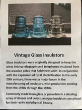 Load image into Gallery viewer, Vintage Glass Insulator Candle Holder