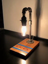 Load image into Gallery viewer, Industrial Pipe Edison Lamp with Chicago Flag Design
